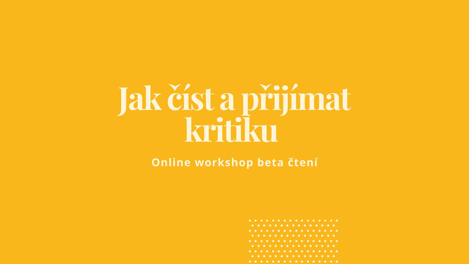 Workshop beta čtení
